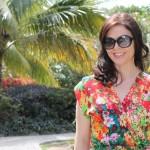 floral rayon dress