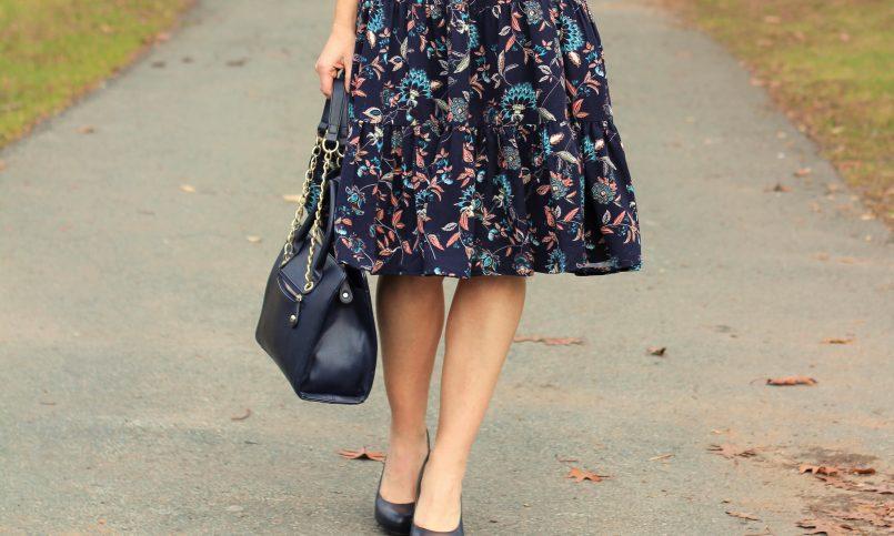 rayon floral dress