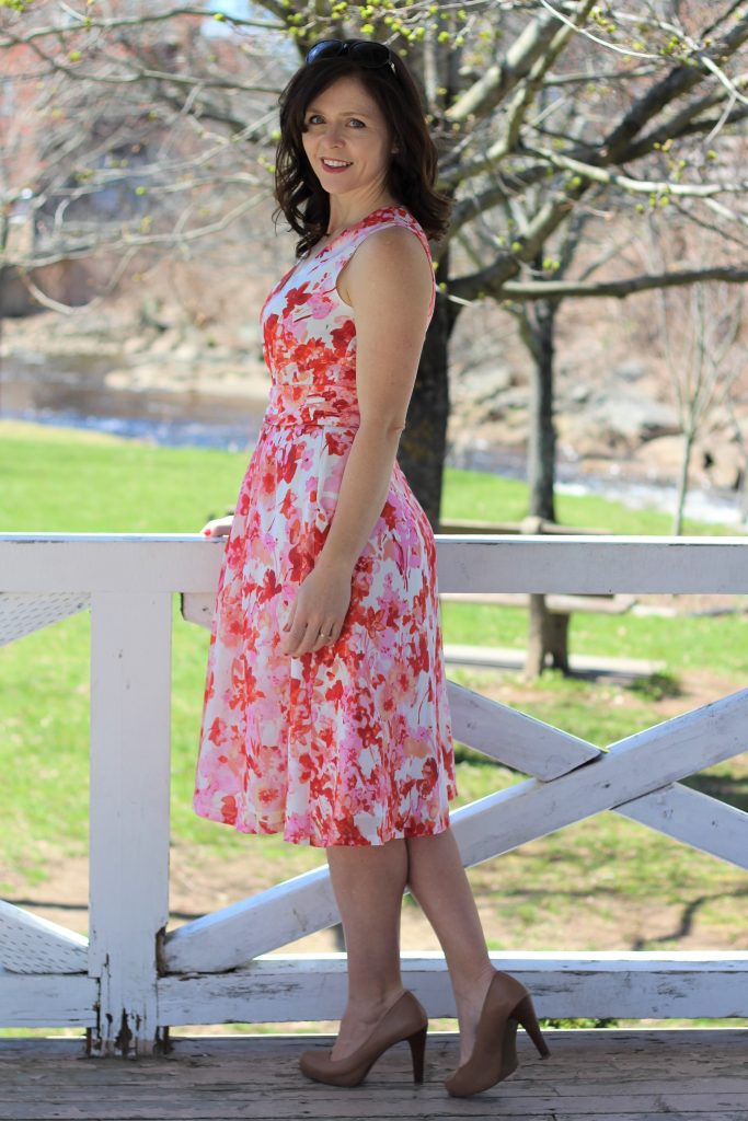 floral silk cotton dress