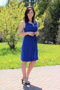colbalt blue dress