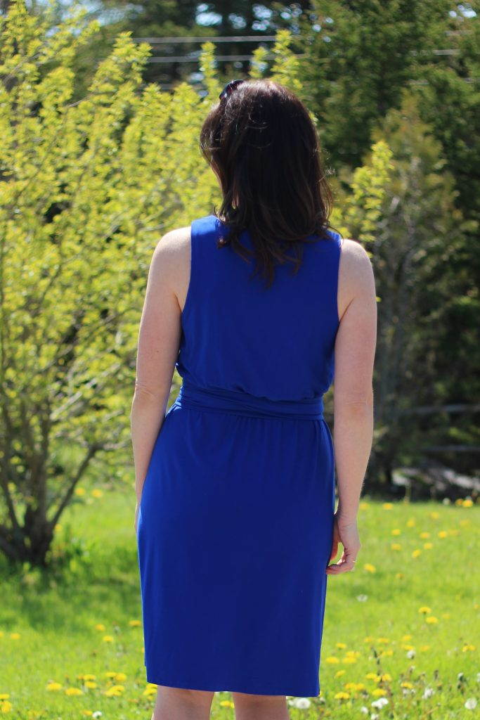 colbalt blue dress